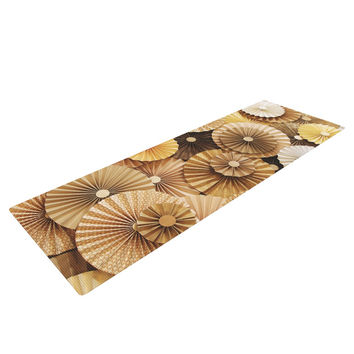 "Heidi Jennings ""Caramel Latte"" Yellow Gold Yoga Mat"