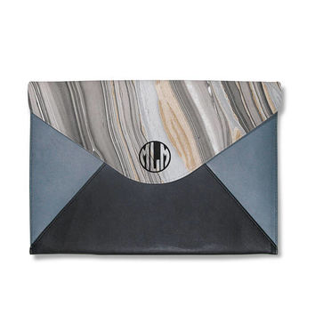 Marble clutch,monogram clutch bag,clutch bag,clutch purse,leather handbag,personalise clutch,women file folder,macbook sleeve,gift for him