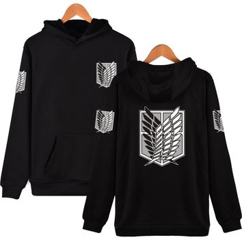 Harajuku Sweatshirt Attack On Titan Cosplay Print Hoodies Japan Comics Hiphop Style Good Quality Red Clothes 6 Color To Choose