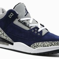 buy michael jordans 3 blue grey and white