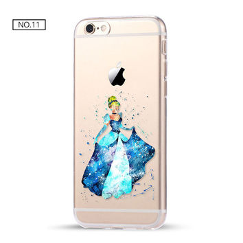 Cinderella Clear Soft Disney Phone Case For iPhone 7 7Plus 6 6s Plus 5 5s SE C