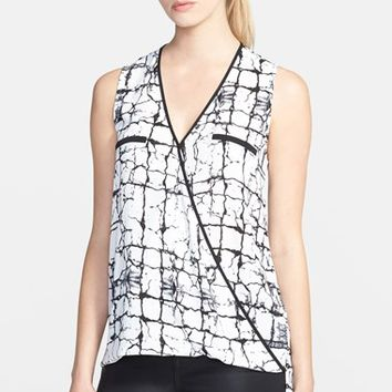 Women's Ro & De Sleeveless Crossover Blouse,