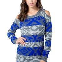 Nordic Cold Shoulder Sweater Tunic