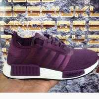 Adidas Women Men Trending NMD Running Sports Shoes Purple