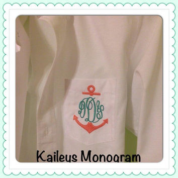 Monogrammed Oversized Oxford Shirt Bride Personalized Monogrammed Beach Cover Up Bride Bridesmaid Bridal Party Flower Girl Kaileys Monogram