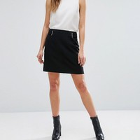 New Look Mini Crepe A-Line Skirt at asos.com