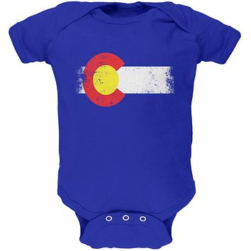 Born and Raised Colorado State Flag Soft Baby One Piece