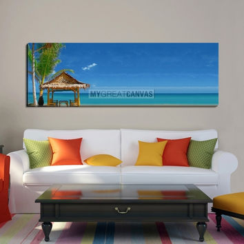 Large Wall Art Canvas Print Camellia on Beach