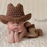 Baby Cowboy or Cowgirl Set-Includes Hat & Boots