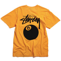 8 Ball Pigment Dyed T-Shirt Faded Yellow