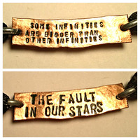 Some infinities are bigger than other infinities The fault in our stars two sided copper bracelet