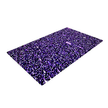 "Maynard Logan ""Purple Dots"" Woven Area Rug"