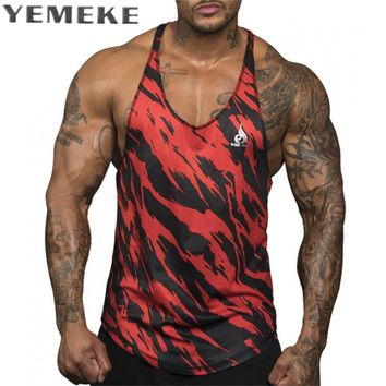 summer Singlets Camouflage Tank Tops Shirt Bodybuilding Equipment Fitness