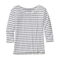 Patagonia Women's Shallow Seas Top | Nettie Stripe: Birch White