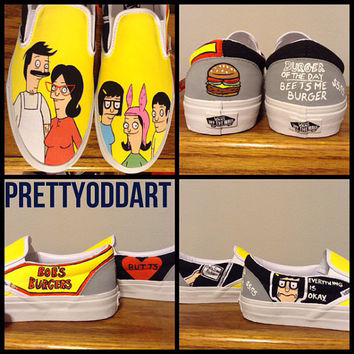 Bob's Burgers Handpainted Shoes