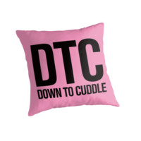 DTC - Down to Cuddle Pink Typography