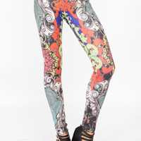 Multi Colored Filgree Leggings
