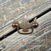 Rustic Vintage, Federal Style Chippendale Drawer Pull by www.MagicalBeansHome.com