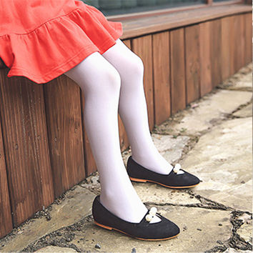 Candy Color Children Tights For Baby Girls Velvet Kids Toddler Tights Soft Ballet Dance Pantyhose Spring Summer Autumn