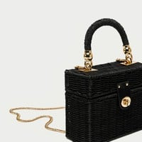 MINAUDIÈRE BAG WITH BRAIDED HANDLE