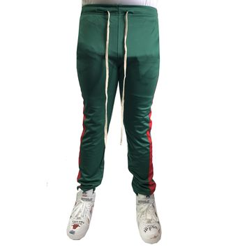 Green / Red Stripe Trackpants