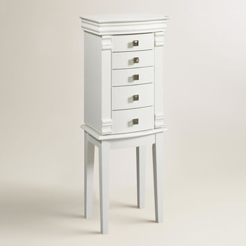White Kari Jewelry Armoire - World Market