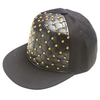Quilted Stud Baseball Cap