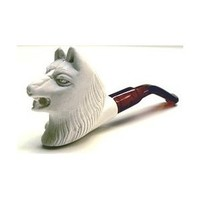 Meerschaum Pipes- Mini Hand Finished Wolf