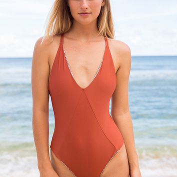 ACACIA Swimwear 2018 Venezuela One Piece in Mai Tai