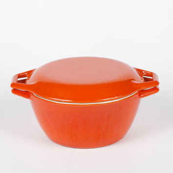 Orange Dutch Oven COPCO Denmark Enameled Cast Iron Michael Lax for Copco