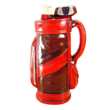 Ballantine Golf Bag Bottle Decanter - Man Cave Decor