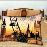 """Sherlock London - 20 """" x 30 """" inch,Pillow Case and Pillow Cover."""