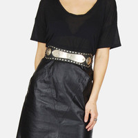 Gimme Love Leather Skirt