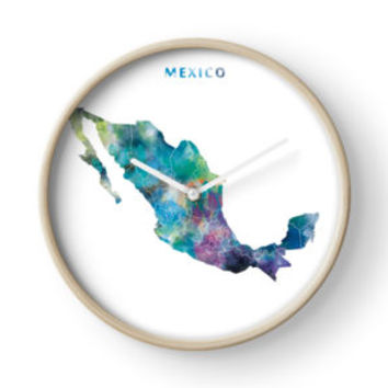 'Mexico' Clock by MonnPrint
