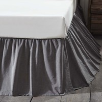 Black Chambray Bed Skirt