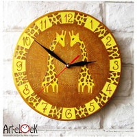 The Giraffes Wall Clock Home Decor for Children