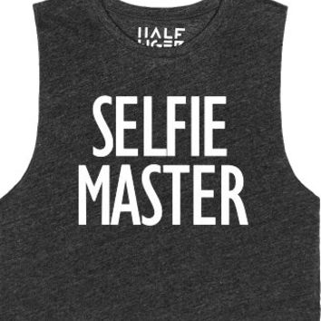 Selfie Master-Unisex Heather Onyx T-Shirt