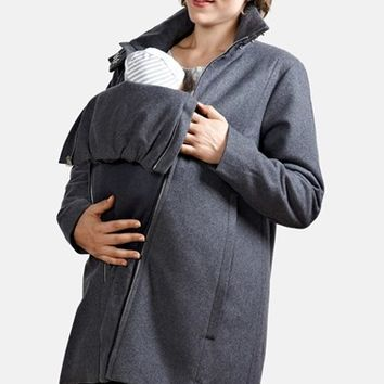 Women's Modern Eternity A-Line Convertible Maternity Swing Coat,