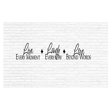 Live Laugh Love Inspirational Words Quote Home Decor Vinyl Wall Art Stickers Decals Graphics