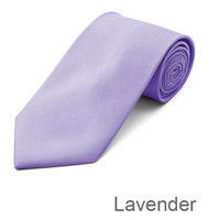 Lavender Wedding Tie and Hanky Set