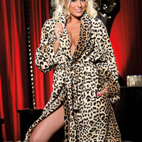 Fluffy Luxurious Leopard Robe