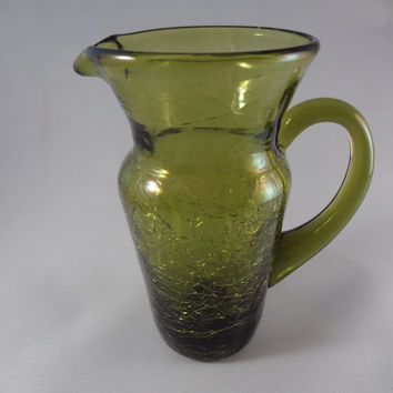 Pair of Tiny Glass Pitchers
