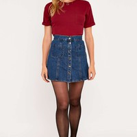 Urban Outfitters Plain Rib Pocket Tee - Urban Outfitters