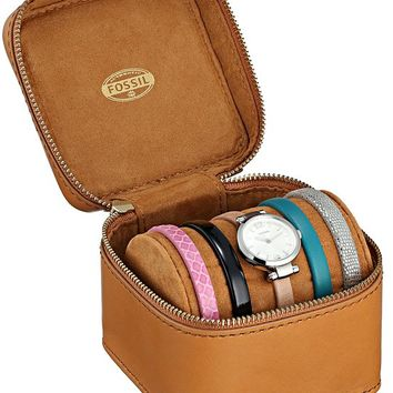 Fossil Women's ES3709 Georgia Three-Hand Leather Watch and Strap Set - Multiple Colors