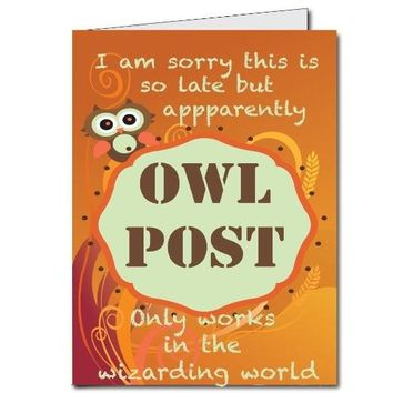 2'x3' Giant Belated Birthday Card - Owl Post Wizarding World - Free
