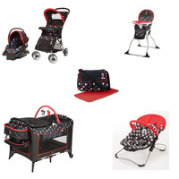 Disney Mickey Baby Gear Bundle II,Travel System,Play Yard,Bouncer,Diaper Bag
