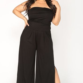 Gotta Split Jumpsuit - Black