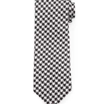 Men's Houndstooth Jacquard Tie, Black/White - TOM FORD - Black/White