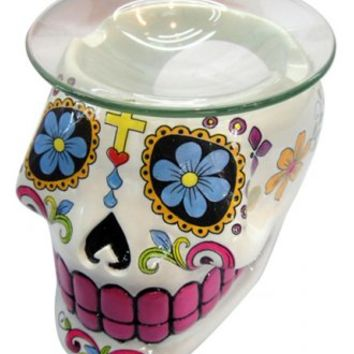 SUGAR SKULL OIL BURNER
