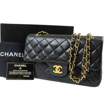 CHANEL Quilted Matelasse Chain Shoulder Bag Black Leather Vintage Auth #C571 M